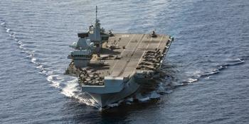 HMS Queen Elizabeth in eastern Med June 2021