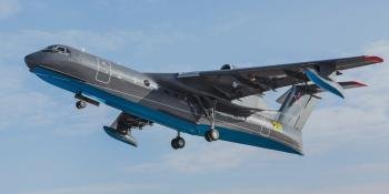 Russian Navy Be-200ChS first flight