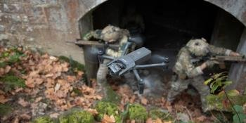 ANAFI USA drone during combat training