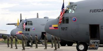 Ex-USAF C-130Hs handed over to Colombia