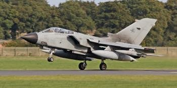 Italian Air Force Tornado IDS, MM7036/6-06, touching down at RAF Coningsby to undertake trials work. All images Jamie Ewan