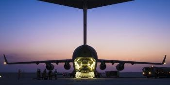 UK RAF C-17 strategic transport aircraft