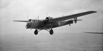 A troop transport and medium bomber flown by the RAF early in WW2