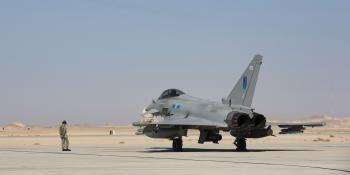 RAF Eurofighter in Oman