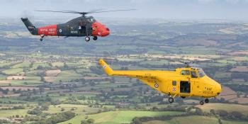 Westland Helicopters in Flight