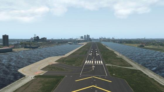 London City x-plane in action