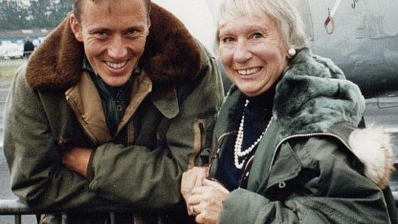 Maggie meets Mark for the first time at Biggin Hill in 1995.