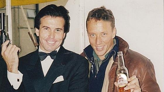 Mark with James Bond double Douglas James at the 1997 Tiger Squadron convention.