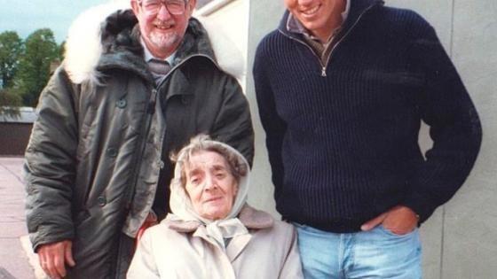 Mark with Tony and Tony's mother.