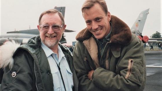 Tony Radcliffe with Mark.