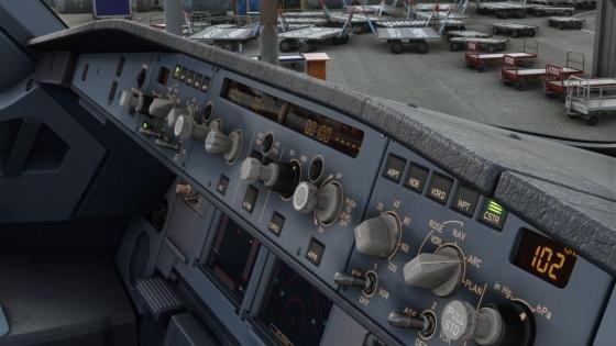inside of a cockpit