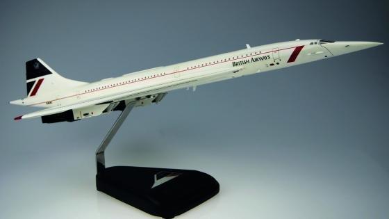 mahogany model of G-BOAC from Bravo Delta Models
